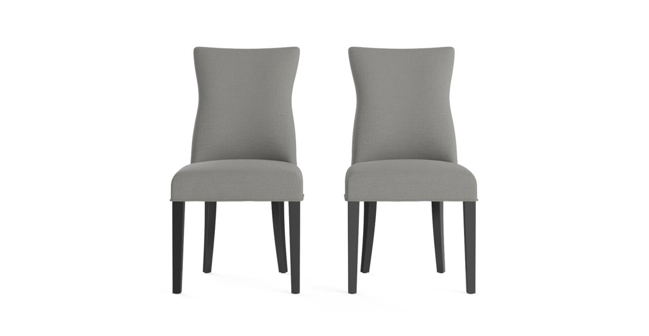 Zoe Set of 2 Fabric Dining Chairs