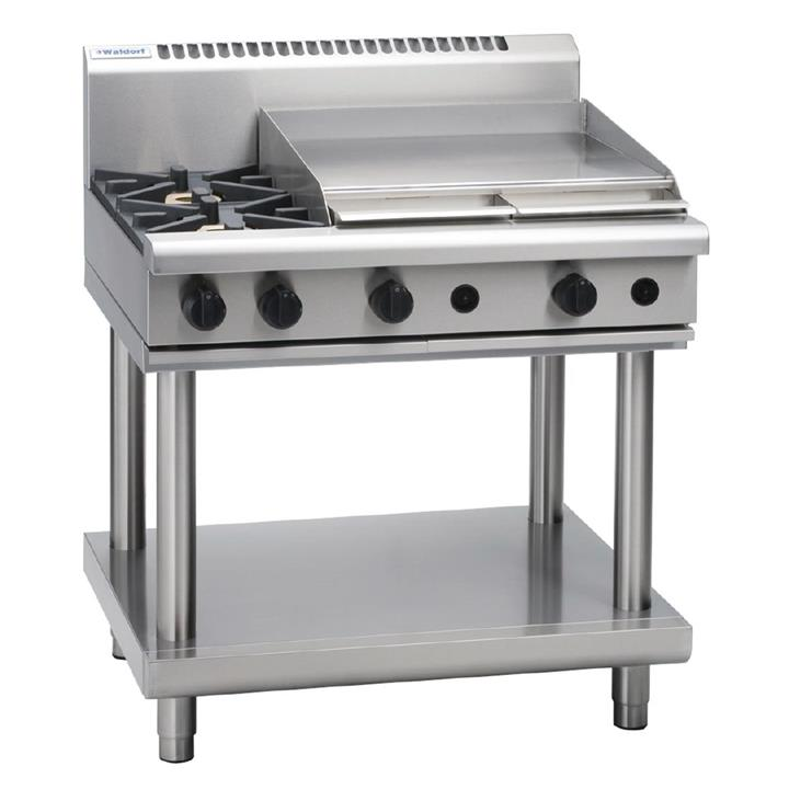 Image of Waldorf by Moffat 2 Burner LPG Gas Cooktop and Griddle RN8606G-LS