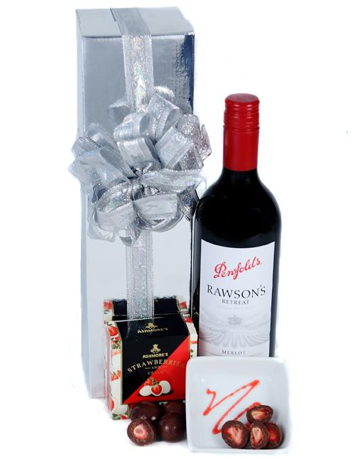 Image of Send The Red - Wine & Chocolate Hamper
