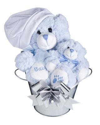 Image of Bub Bucket (Boy) - Baby Hamper
