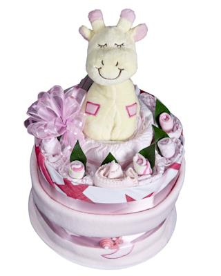 Image of Baby Girl Nappy Cake - Baby Hamper