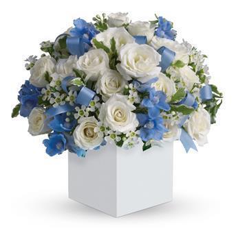 Image of Celebrating Baby Boy - Flower Arrangement