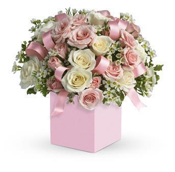 Image of Celebrating Baby Girl - Flower Arrangement