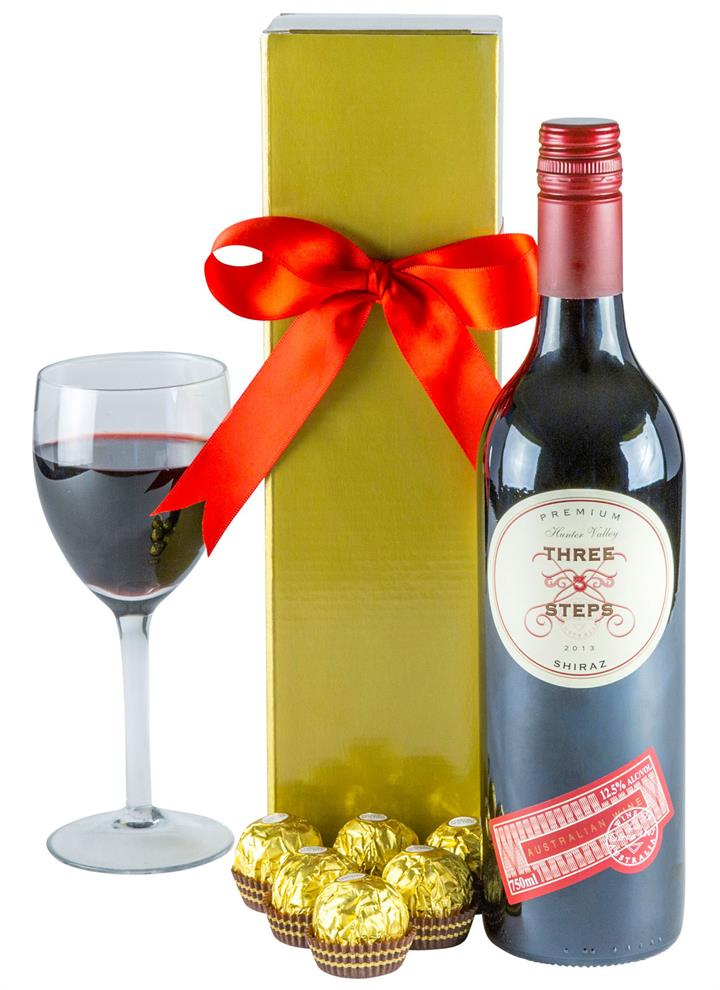 Image of Ruby Red - Red Wine Gift Hamper
