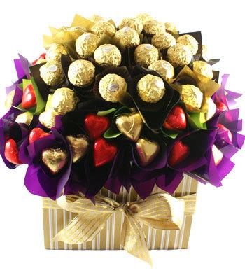 Image of Flowers of Ferrero Rocher - Mothers Day Hamper