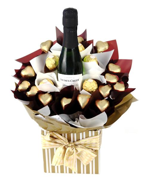 Image of First Class Bubbles - Chocolate Hamper